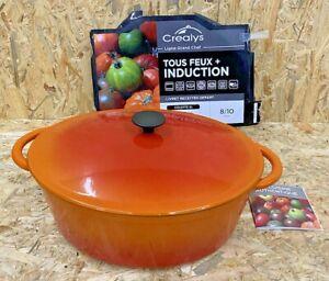 Tradifonte 501602 Topf, oval, 9 l, Orange