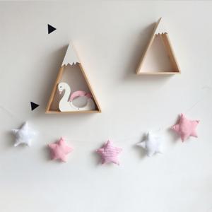 Star Wool Felt Cotton Baby Room Garland Crib Wall Hangings Tent Nursery Decor