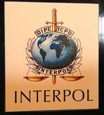 INTERPOL (POLICE)  FRIDGE MAGNET(84mm x 75mm) +   FREE MATCHING PHONE STICKER
