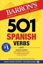 501 SPANISH VERBS - KENDRIS, CHRISTOPHER, PH.D./ KENDRIS, THEODORE, PH.D. - NEW