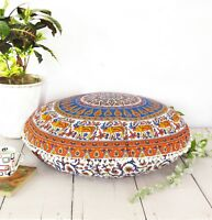 Multi Color Ombre Large Throw Case Decorative Floor Pillow Cushion Cover Mandala