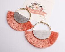 Fashion Women Boho Long Tassel Hook Wire Earrings Dangle Bohemia Jewelry