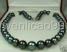 "Perle noire de Tahiti de naturel Collier 18 ""AAA"