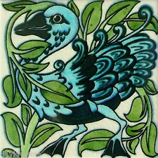 Opposite Funky Blue Duck pattern 12 x 12 inch mono deluxe Needlepoint Canvas