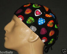 GUITAR PICKS MALE SCRUB HAT /  FREE CUSTOM SIZING IF REQUESTED