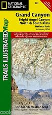 National Geographic Trails Illustrated AZ Grand Canyon Bright Angel Map 261