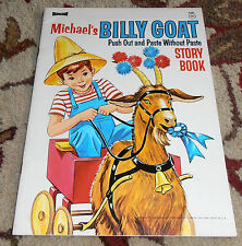 Michael's Billy Goat Push Out & Paste Without Paste Story Book Saalfield 4391