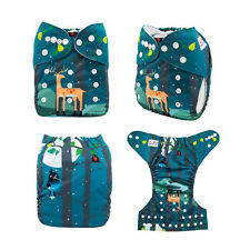 ALVA Baby Boy Washable Reusable Washable Pocket Diaper +1Insert Fit 6-33lbs