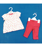 """BABY GIRLS """"EX M&S"""" 2 PIECE SET FLOWERY TOP AND LEGGINGS - OUTFIT"""