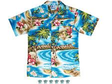 Boys RJC Shirt HAWAIIAN Size Kids Sz.2 Cotton DIAMOND HEAD Ukulele MAPof ISLANDS
