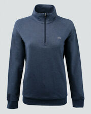 New Women's Travis Mathew W-Zachary 1/4 Zip Pullover Blue Heather Jacket Size L