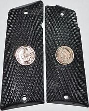 Llama 45 ACP Max1 -C/F pistol grips black checker plastic with indian head penny
