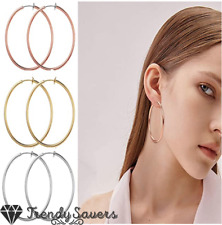 Surgical Steel Fake Non Pierced Clip On Cartilage Labret Lip Nose Hoop Earrings