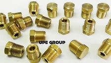 BRASS CORED HEX PLUG MALE 1/8 NPT THREADS PIPE FITTING AIR WATER BOAT QTY 25