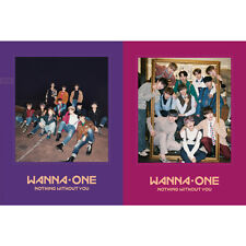 WANNA ONE 1-1=0 Nothin With You (Purple+Wine Ver.) CD SET w/Photocard+Ticket