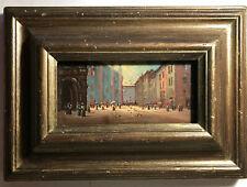 Romantische Stadtszene  - Öl auf Holz  - Liebliche, meisterliche Malerei