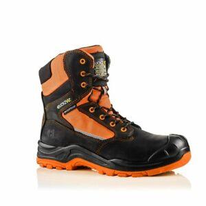 Buckler BuckzViz BVIZ1 Orange Waterproof Non-Metallic Zip Safety Work Boots