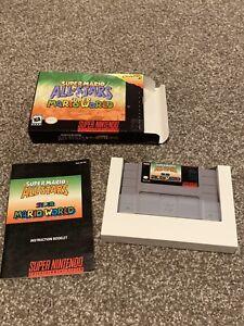 Super Mario All-Stars + Super Mario World CIB COMPLETE Box Super Nintendo SNES