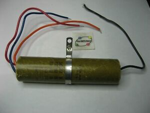 Electrolytic Capacitor 3 Sect 80,50,50uF 150VDC Mallory TCT3118 Paper Skin Used