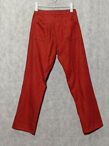 Issey Miyake Red Denim Jeans Size 3 Japan