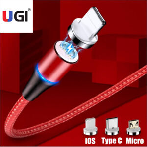 1M 2M 3A Fast Magnetic Adapter Charger For iPhone IOS Type C Micro USB Cable Hot