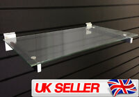 Premium PAIRS Slatwall Panel Glass Shelf Brackets Shopfitting Shelving Display