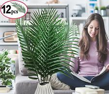 SLanC 12 Pack Artificial Palm Plants Leaves Faux Fake Tropical Large Palm Tree L