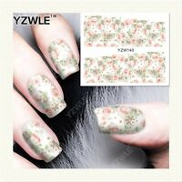 Nail Art Water Decals Stickers Transfers Pastel Spring Flowers Gel Polish YZW140