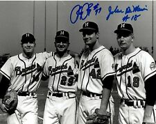 Milw. Braves JOEY JAY & JOHN DeMERIT Dual Signed 8x10 Photo AUTO