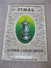 ARSENAL v LEEDS UNITED 1972 FA CUP FINAL PROGRAMME CENTENARY YEAR JACK CHARLTON