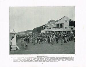Glorious Goodwood Horse Race Course Antique Print Victorian Picture 1897 TQE#117