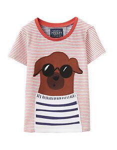 JOULES Tom Joule Shirt BABYARCHIE Dog rot gestreift Gr. 74 NEU