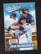 Tulsa Drillers--Gavin Lux--2020 Pocket Schedule--Pepsi--Dodgers Affiliate