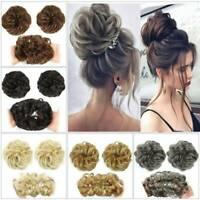 Women Bun Updo Hair Piece Hair Extensions Wavy Curly Messy Scrunchy Scrunchies k