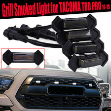 Smoked Front Grille White LED Lights Kit For Toyota Tacoma w/TRD Pro Grill 16-up