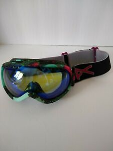 Anon Youth ski goggles Snowboarding snow Pink Turquoise Green UV Protection