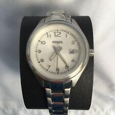 Fossil Womens Mini Flight Watch AM4364 Stainless Steel Date Analog
