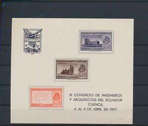 LO40150 Ecuador engineer congress imperf sheet MNH