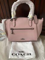 Coach Elise Aurora Pink Leather Small Satchel Handbag Bag NWT SPRING PURSE