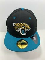 "New Era 59FIFTY Black & Teal Jacksonville Jaguars 7 5/8"" Fitted Flat Bill, NEW!"