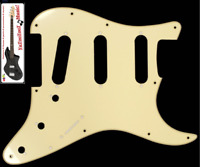 NEW PICKGUARD STRATOCASTER SSS - cream - 1 ply pour guitare strat