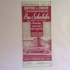 1937 Boston & Maine Bus Schedule, Steamlined Buses