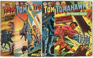 Tomahawk #114, 117, 120, 121, 123 - 127, 137  avg. FN- 5.5  DC  1968  No Reserve