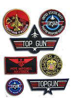 Top Gun Maverick Fancy Dress patches Iron-on 6 Patch set , Aufnäher Bügelbild