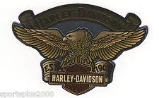 "GENUINE HARLEY DAVIDSON 4.25"" INDOOR EAGLE CHROME BANNER REFLECTIVE STICKER!"