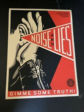 Shepard Fairey Obey Giant Noise and Lies Red/Cream Art Print Poster Signed X/325