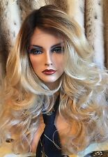 BEAUTIFUL, Rooted, Long, Blonde Lace Front Side Part, Wig Waves & Heat Friendly!