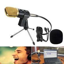 USB Cardioid Condenser Studio Sound Recording Microphone Mic w/ Stand Brocasting