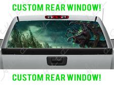 Fantasy Gargoyle Monster Creature Castle Dark Truck Perforated Window Decal