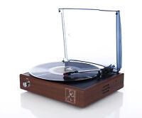 Turntable gramophone Platterspieler BROWN or BLACK for 78 RPM, speakers, records